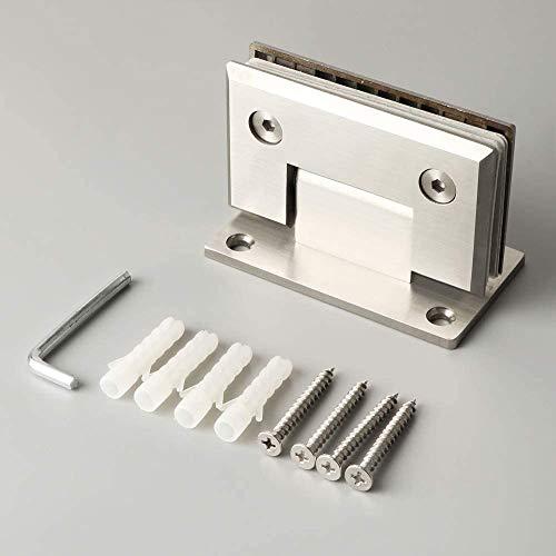 1 * Scharnier - 90 ° Edelstahlscharnier 8-12 mm Wandhalterung für Glastür-Duschtürscharnier