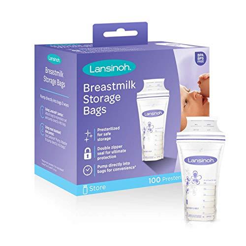 Lansinoh Breastmilk Storage Bags - 100 ct (3 Packs (100 Count))
