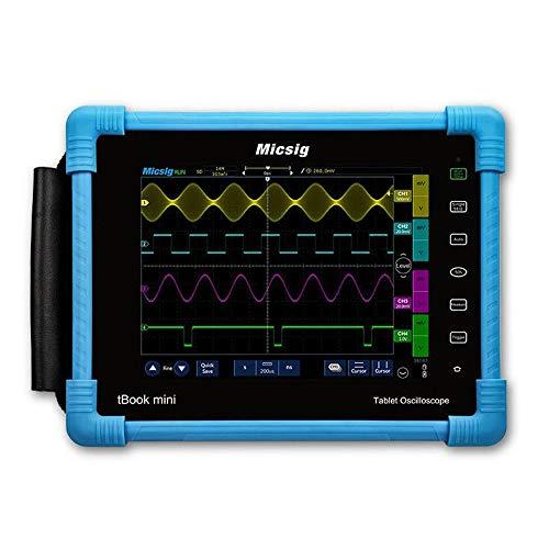 Unbekannt Digitales Oszilloskop Tablet PC-Oszilloskop 100MHz 2CH 28Mpts Automobildiagnose Touchscreen Digital-Oszilloskop (Farbe : Blau, Größe : Einheitsgröße)