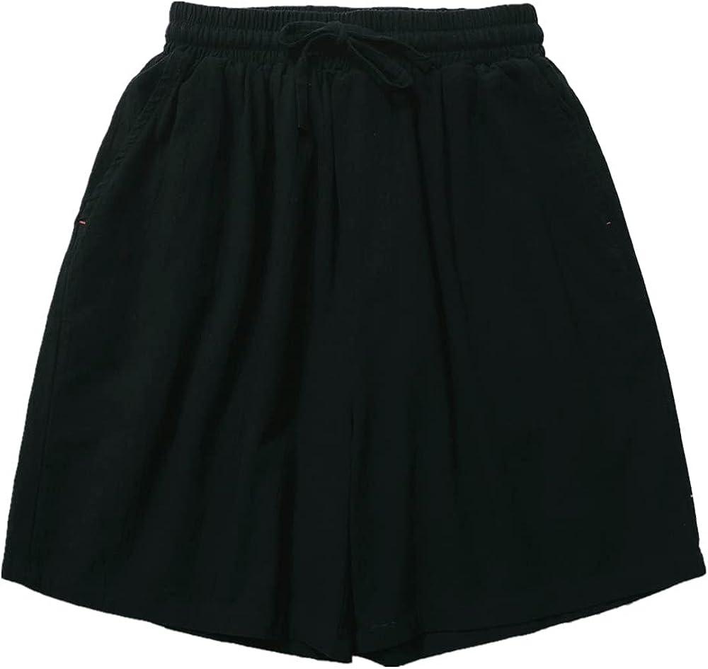 NP Men's Shorts Summer Sports Capris Solid Casual Loose Beach Pants Men's Pants