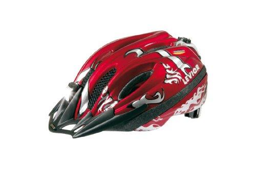 Levior Fahrradhelm Sparky, Rot-Silber, 53-58 cm, 45100800