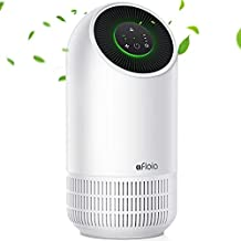 Air Purifiers For Home| Pet air purifier Absorb Odour | 24dB In Sleep Mode | 3-Stage Filtration Hepa Filter | Air Cleaner Remove 99.99% Pet Odors Dust Pollen Smoke Household