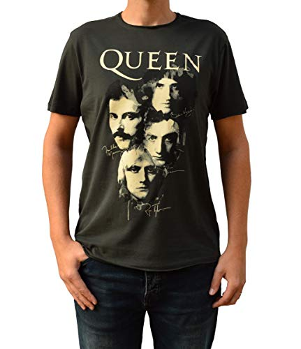 Amplified Queen Autographs Charcoal Crew Neck T-Shirt S