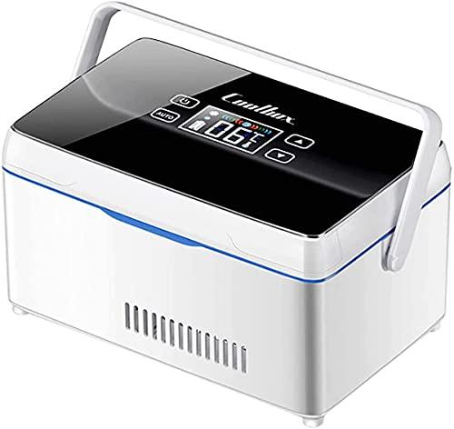 LIMEID Tragbare Insulin Kühlbox, für Medikamente Mini Intelligente Elektrische Kühlschrank Kühltasche, Thermostat unter 26 ° C, mit KFZ USB Ladekabel, für Reise&Haushalt,1*Battery