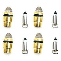 オートバイTPMS.ダブルバルブステム拡張 FZ700 FZX700 FZ750 FZ 700T TC FZ 700N FZ750S SC FZX700S / SCのためのキャブレター修理キットフローティングニードルシート (Color : Black, Size : 10)
