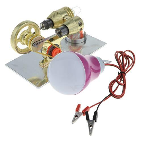 SM SunniMix Heißluft-Stirlingmotor-Modell-Schwungrad-Stromgenerator-pädagogisches Spielzeug