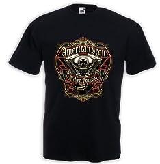 Fruit of the Loom Camiseta Estampada Hombre Manga Corta Negra