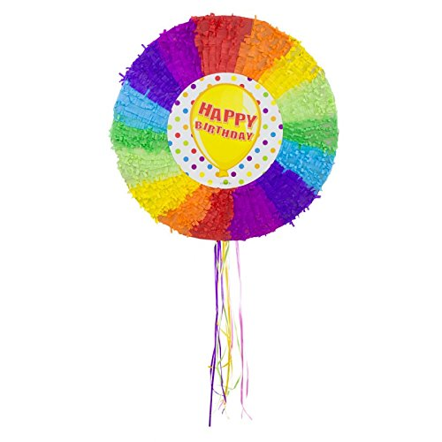 Pignatta a forma di palla Happy Birthday - 48 cm