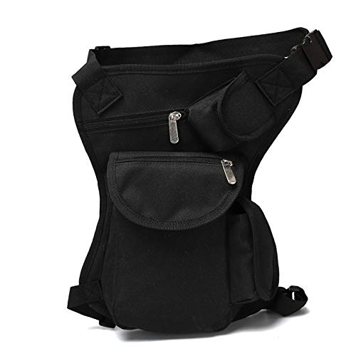 NKns Outdoor Camouflage Tactical Leg Bag Outdoor Training Camping Small Pockets Hiking Riding Multi-Function Waterproof Pockets BlackBusiness Laptop Rucksack