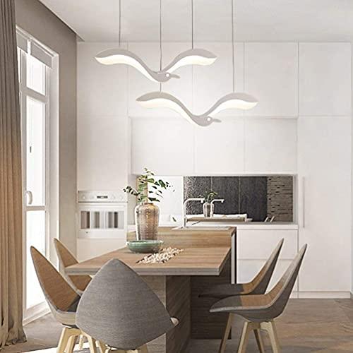 Lámpara de techo creativa LED para salón, color blanco mate, metal, gaviota, iluminación interior, lámpara de techo de acrílico, lámpara de techo, lámpara de techo blanca