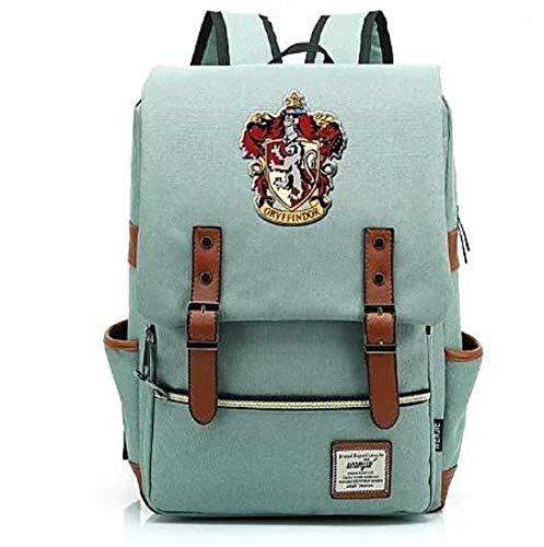 Mochila Bolsa Harry Potter Todas Casas 8 Modelos (GRIFINORIA, VERDE CLARO)