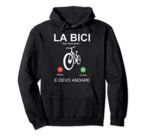 Regalo Divertente Ciclista Mtb Mountain Bike Bici Bicicletta Felpa con Cappuccio