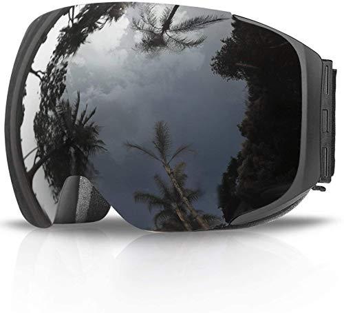 Skibrille,eDriveTech Ski Snowboard Brille Brillenträger Schneebrille Snowboardbrille Verspiegelt- Für Skibrillen Damen Herren - OTG UV-Schutz Anti Fog Verbesserte Belüftung für Skifahren, Snowboarden