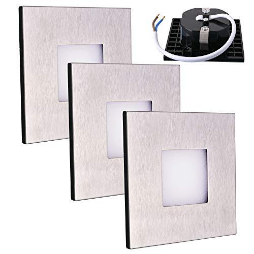 warm-weiß, flach LED Wand-Lampe Segin Treppenlicht für innen und außen aufbau