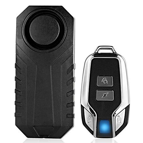 YOPOTIKA Alarma Antirrobo Inalámbrica Sensor de Vibración a Prueba de Agua Sirena con Control Remoto para Electrocar Motocicleta Bicicleta