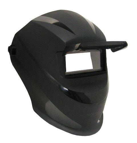 Lightweight, Ergonomic Design, Trident Series Welding Helmet with Ratchet Suspension, 2' x 4.25' Lift Front (ADF, Cover Plates Sold Separately), Super Tuff Nylon, Black