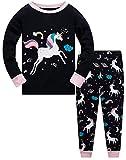 Colobe Pijamas Niña Unicornio Animales 100% Algodon Manga Larga Infantil Ropa a Juego Conjunto Edad 11-12 Años