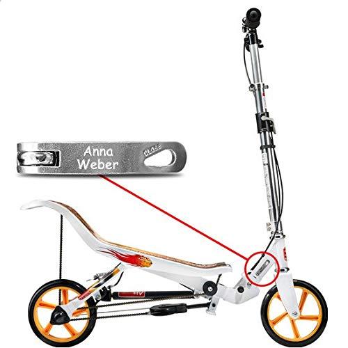 Space Scooter X 580 weiß MIT Gravur - inkl. hochwertiger Namensgravur - SpaceScooter Wipproller X580 Weiss White