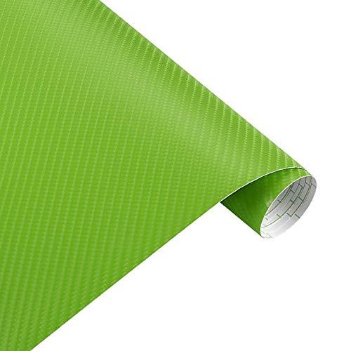 Sankuai 1pc 200mm X 1520mm 4D Carbon-Faser-Glossy-Vinylverpackungs-Blatt-Film Motorrad Automobil Autozubehör Dekoration Blase Luft frei (Farbe : Grün)