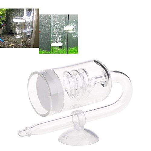 Aquarium CO2 Diffusor Rückschlagventil U Form Glasrohr Saugnapf Für Rohr Daxibb