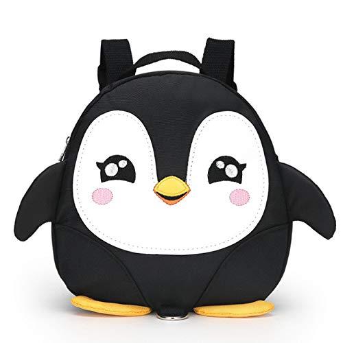 YYZZ Mochila de Dibujos Animados, Animal de Dibujos Animados Pingüino Anti perdida Mochilas para niños pequeños Bolsas de Escuela Impermeables para niños de jardín de Infantes Cartera para