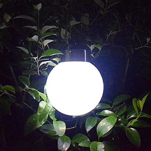 Luces de suspensión solar, LED Lámpara solar solar Lámpara colgante al aire libre Impermeable Paisaje Decoración Iluminación para patio Jardín Yarda Patio Patio Árbol de Navidad, D13CM