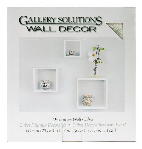 Gallery Solutions Wandwürfel-Set, 3-teilig, Weiß
