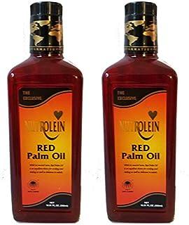 Nutrolein Red Palm Oil (in Glass Bottle) 1,000 ml / 33.82 Fl oz {500 ml X 2 Bottles}