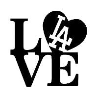 車のステッカーの装飾 16X16CM LOVE IラブLAドジャース野球オリジナリティビニールステッカーカーステッカーカースタイリング (Color Name : Black)