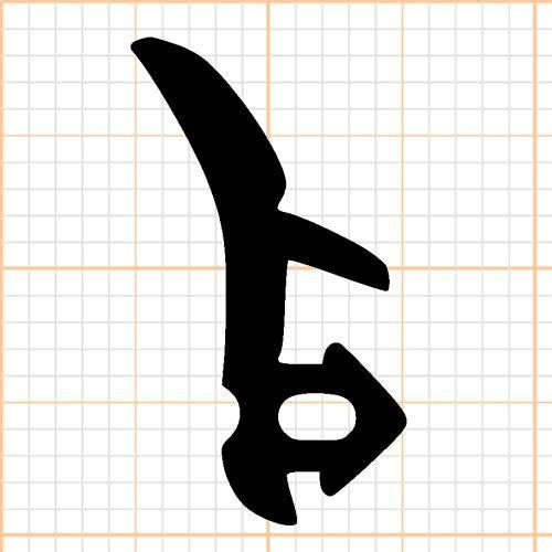 Graf Dichtungen F1615 Fensterdichtung für KBE oder Veka Fenster, Schwarz