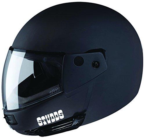 Studds Ninja Pastel Plain SUS_NPPFFH_MBLKL Full Face Helmet (Matt Black, L)