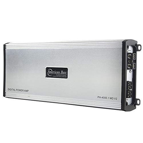 American Bass Phantom Series PH-4000.1-MD-V2 Monoblock Class D Digital Power Car Amplifier with 4000 Watts Max