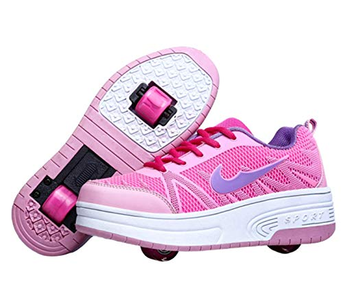 Ali-tone Junge Mädchen Schuhe Kinderschuhe mit Rollen Einzelrad Doppelrad Doppelrad schuheltraleicht Outdoor Schuhe Rädern Gymnastik Sneaker