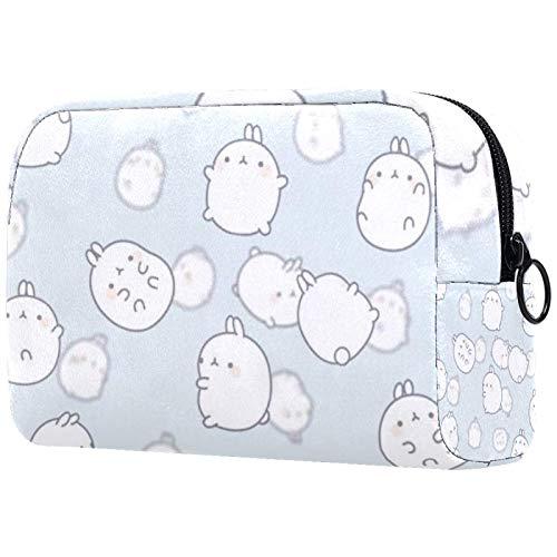 Bolsa de maquillaje/bolsa de cosméticos de viaje bolsas de cosméticos,conejos de dibujos animados
