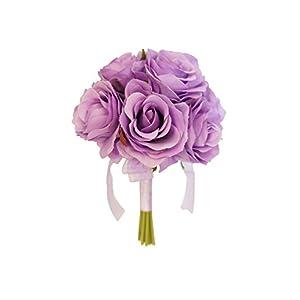 Angel Isabella Keepsake Artificial Rose Bouquet/Centerpiece/Table top Flower (Lilac)