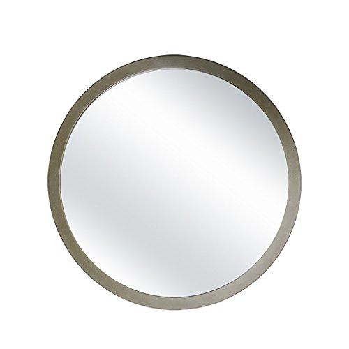 Zfggd miroir mural Suspendu/Miroir argenté/Miroir de Coiffeuse, Rond avec Trous de Montage, 3 Couleurs / 4 Tailles au Choix (Color : Champagne Gold, Size : 30cm)