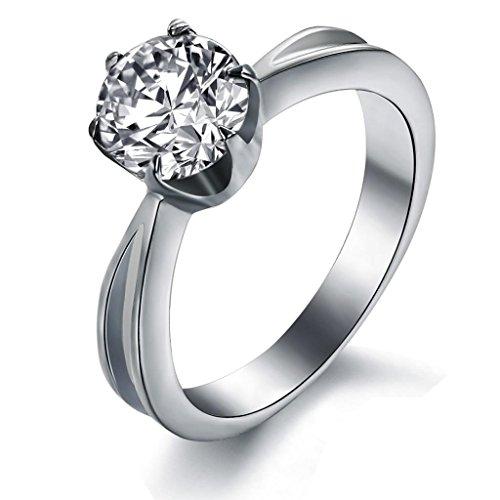 Bigsoho in acciaio INOX, con ganascia 6 da donna con anello per anniversario, taglia 9 1/2, 1, 2 L, N, P 1/2 1/2, R 1/2  e Anello da donna, 9,5, cod. RGJ-4528-W5