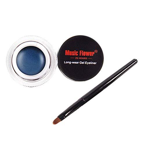 Arichtop Gel Eyeliner imperméable Cosmétiques Crème Maquillage Stylo Eye-Liner, crème pour Les Yeux Portable Crème Eye Liner Multifonctions Palette
