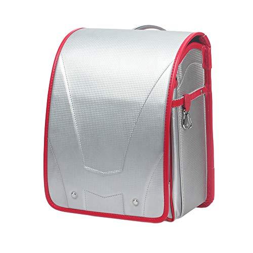 MIMI KING Mochila Escolar Mochilas para niños y niñas, Cerradura semiautomática, Gran Capacidad de Plata de Moda Adecuada para 1-3 Grados,Red