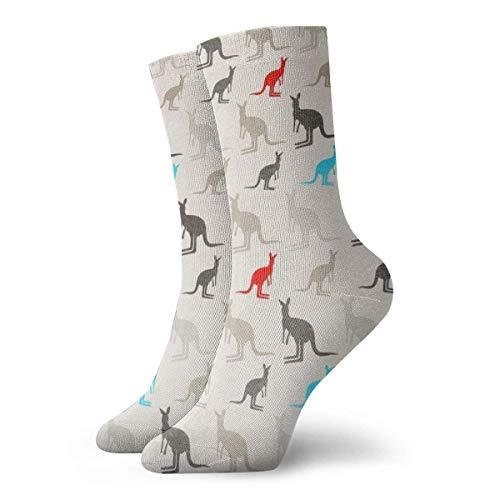 tyui7 Australia Kangaroos Damen Neuheit Crew Socken Kalbsocken warm/atmungsaktiv/langlebig