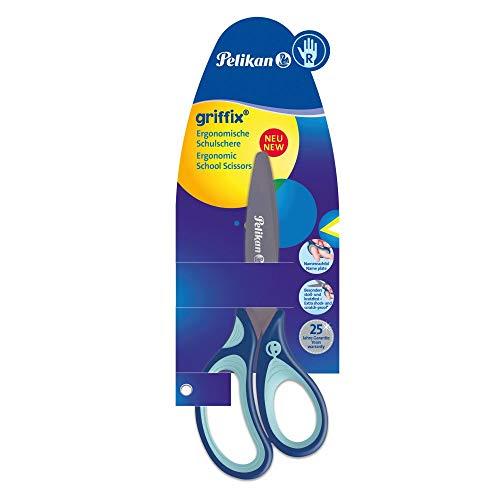 Pelikan 803502 griffix Schulschere, Blau, für Rechtshänder