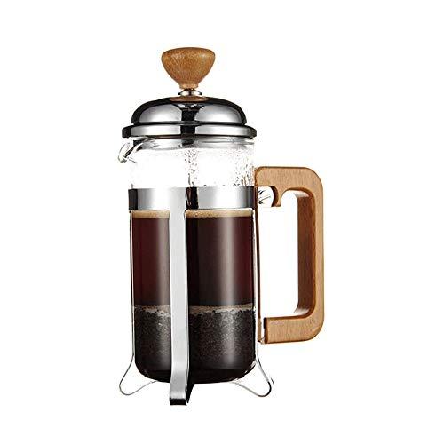SMX Kaffeemaschine, Edelstahl mit Glaskanne, Kaffeebereiter mit Filter, Manuell Kaffeemaschine mit Kupfer-Finish, Kaffeebereiter In Klein (350 ml)