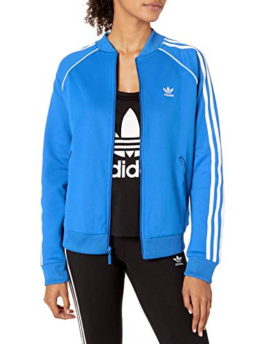 adidas Originals Damen Superstar Track Top Jacket Jacke, Blauer Vogel, Medium