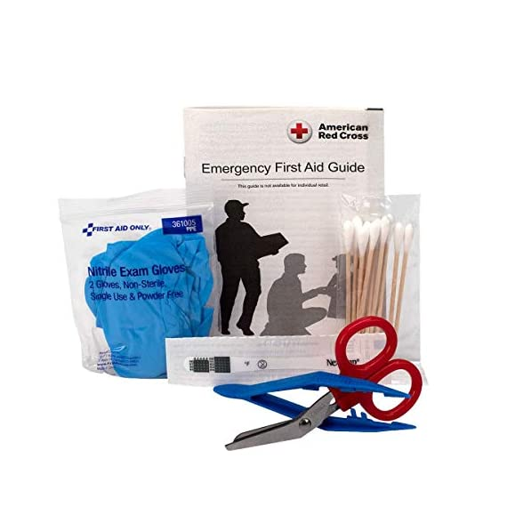 First aid only all-purpose medical first aid kit, 320 pieces emergency kit of first aid supplies 8 contains 299 essential first aid supplies for treating minor aches and injuries clear plastic liner in nylon case for organization and easy access to first aid supplies in an emergency soft sided, zippered case ideal for home, travel and on the go use