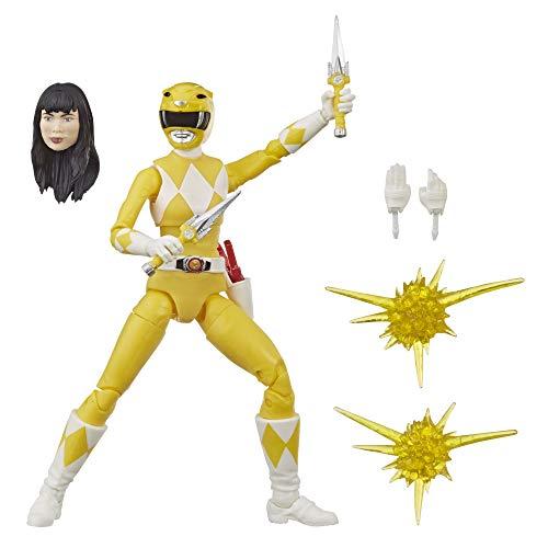 Power Rangers Lightning Collection 15 cm große Mighty Morphin Yellow Ranger Sammelfigur Spielzeug mit Zubehör