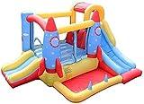 QULONG aufblasbare Burg für Kinder, Toy Square Climbing Wall aufblasbare Burg und Rutsche, Indoor...