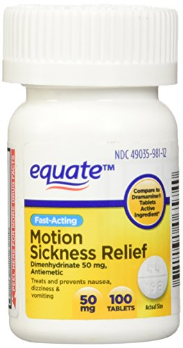 Equate Motion Sickness 50 mg 100 Tablets (Compare to Dramamine) (1)