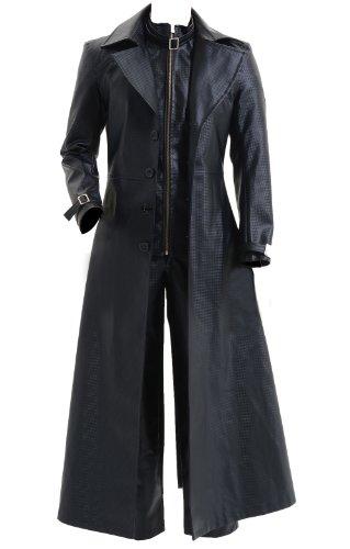 CosDaddy Cosplay Costume Albert Wesker Black Coat Jacket,Men-Medium