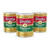 Gavina Since 1870 Gourmet Coffee Cafe Gavina Decaf Espresso Roast Extra Fine Ground Coffee Cans, 100% Arabica, 3 x 10Ounce