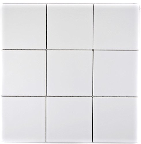 Mosaik Fliese Keramik weiß matt für BODEN WAND BAD WC DUSCHE KÜCHE FLIESENSPIEGEL THEKENVERKLEIDUNG BADEWANNENVERKLEIDUNG Mosaikmatte Mosaikplatte 1 Matte